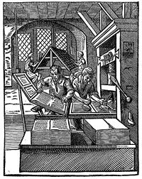 Printer, from Jost Amman and Hans Sachs, Das Ständebuch. Frankfurt am Main 1568.