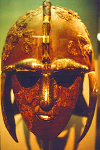 Helmet from the Sutton Hoo ship-burial 1, England. Photo by Mike Markowski.