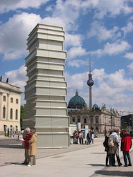 """Modern Book Printing,"" fourth sculpture (of six) of the Berlin Walk of Ideas."