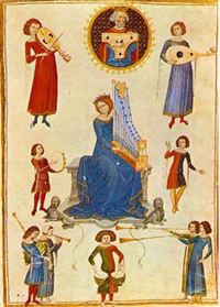 Boethius, De Musica, from Naples, Biblioteca Nazionale Vittorio Emanuele III, MS V. A. 14.